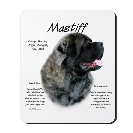 Brindle Fluffy Mastiff Mousepad