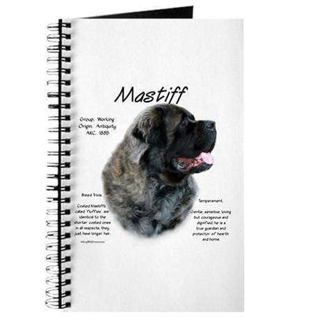 Brindle Fluffy Mastiff Journal