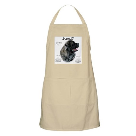 Brindle Fluffy Mastiff BBQ Apron