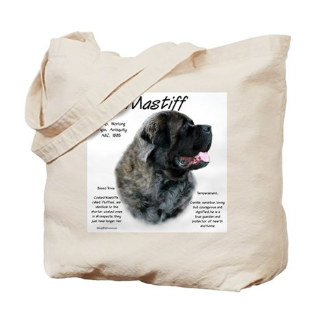 Brindle Fluffy Mastiff Tote Bag