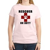 "RESCUER ""On Duty"" Women's Fitted T-shirt"
