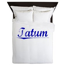 Tatum, Blue, Aged Queen Duvet