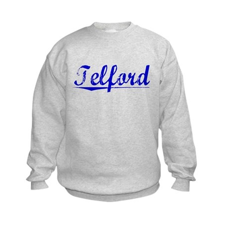 Telford, Blue, Aged Kids Sweatshirt