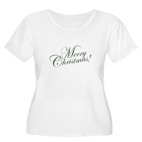 Merry Christmas Women's Plus Size Scoop Neck T-Shi