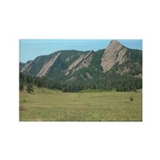 Flat Iron Mountains Rectangle Magnet