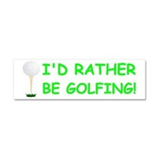 golfball large bumper.png Car Magnet 10 x 3
