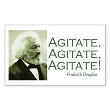 "F. Douglass ""Agitate!"" Rectangle Decal"