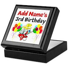 HAPPY 3RD BIRTHDAY Keepsake Box