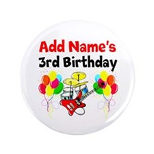"HAPPY 3RD BIRTHDAY 3.5"" Button (100 pack)"