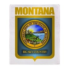 Montana Seal (back) Throw Blanket
