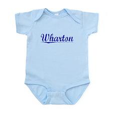 Wharton, Blue, Aged Infant Bodysuit