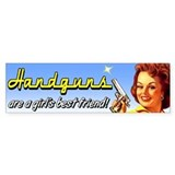 Handguns are a girl's best friend Bumper Car Sticker