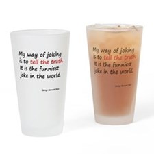 George Bernard Shaw Drinking Glass