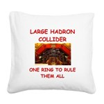 LHC.png Square Canvas Pillow