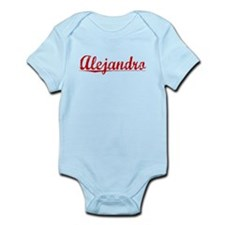 Alejandro, Vintage Red Infant Bodysuit