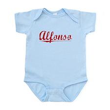 Alfonso, Vintage Red Infant Bodysuit