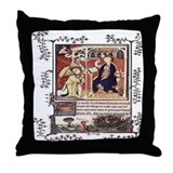 Medieval Psalter Throw Pillow