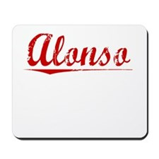 Alonso, Vintage Red Mousepad