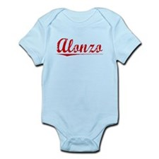Alonzo, Vintage Red Infant Bodysuit