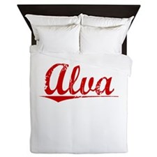 Alva, Vintage Red Queen Duvet