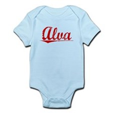 Alva, Vintage Red Infant Bodysuit