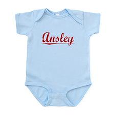 Ansley, Vintage Red Infant Bodysuit