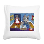 Cat Stealing Cookies- Square Canvas Pillow