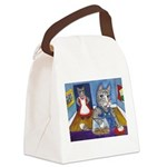 Cat Stealing Cookies- Canvas Lunch Bag