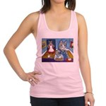 Cat Stealing Cookies- Racerback Tank Top