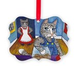 Cat Stealing Cookies- Picture Ornament