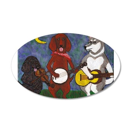 Country Dogs 20x12 Oval Wall Decal