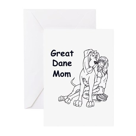 N GD Mom Greeting Cards (Pk of 10)