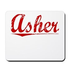 Asher, Vintage Red Mousepad