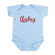 Aubry, Vintage Red Infant Bodysuit