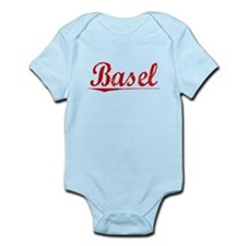 Basel, Vintage Red Infant Bodysuit