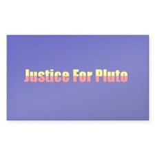 Justice For Pluto Rectangle Decal