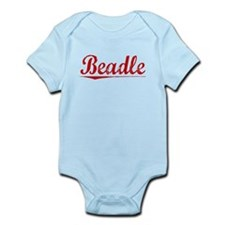 Beadle, Vintage Red Infant Bodysuit