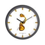 Blown Gold ? Wall Clock
