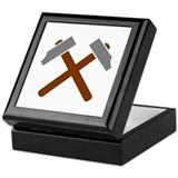 Crossed hammer Keepsake Box