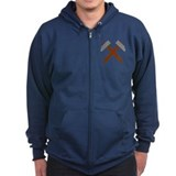 Crossed hammer Zip Hoody