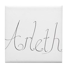 Arleth name Tile Coaster