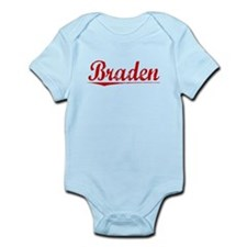 Braden, Vintage Red Infant Bodysuit