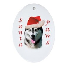 Malamute Paws Oval Ornament
