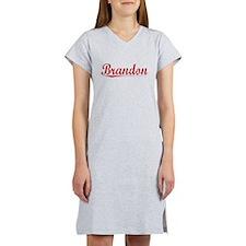 Brandon, Vintage Red Women's Nightshirt