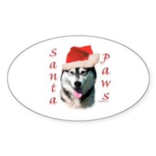 Malamute Paws Oval Decal