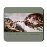 Funny Creation of adam Mousepad
