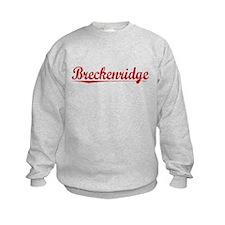 Breckenridge, Vintage Red Sweatshirt