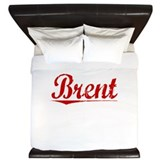 Brent, Vintage Red King Duvet