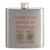 PINOCHLE player gifts t-shirts Flask