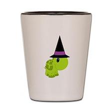Halloween Witch Turtle Shot Glass